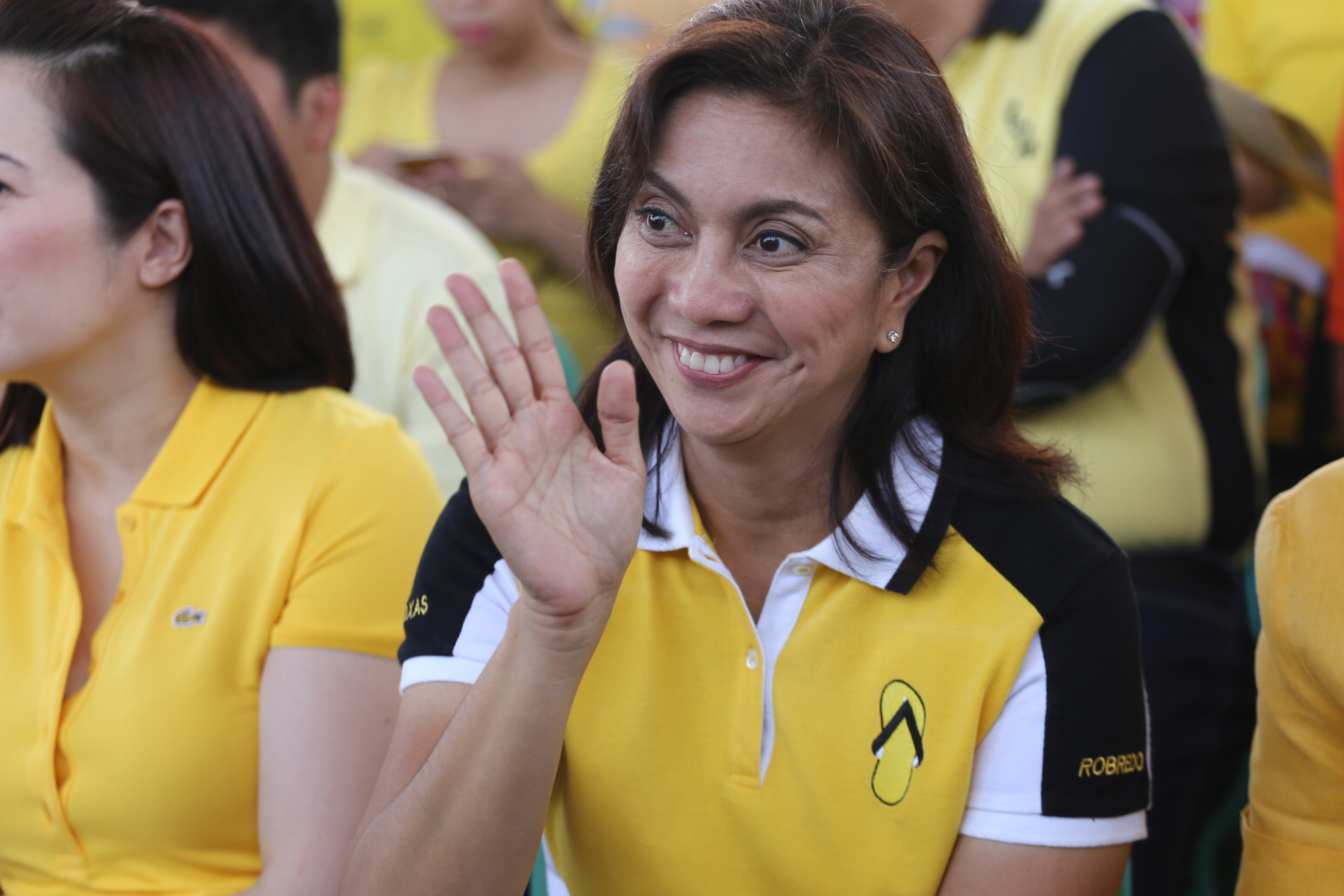 Sortie at the Civic Center, Brgy 178, Camarin, Caloocan starts with a mass celebrated by Fr. Manuel de Lima Seranilla of the Archdiocese of Manila as VP candidate, Leni Robredo celebrates her 51st birthday. All 3 of Robredo's daughters, Paolo Roxas, Judy Araneta-Roxas, and Kris Aquino were in attendance. Photo by Manman Dejeto/Rappler