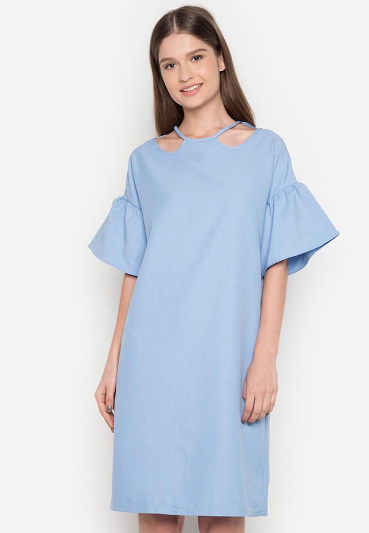 Ruffle sleeve dress by Ivar Aseron