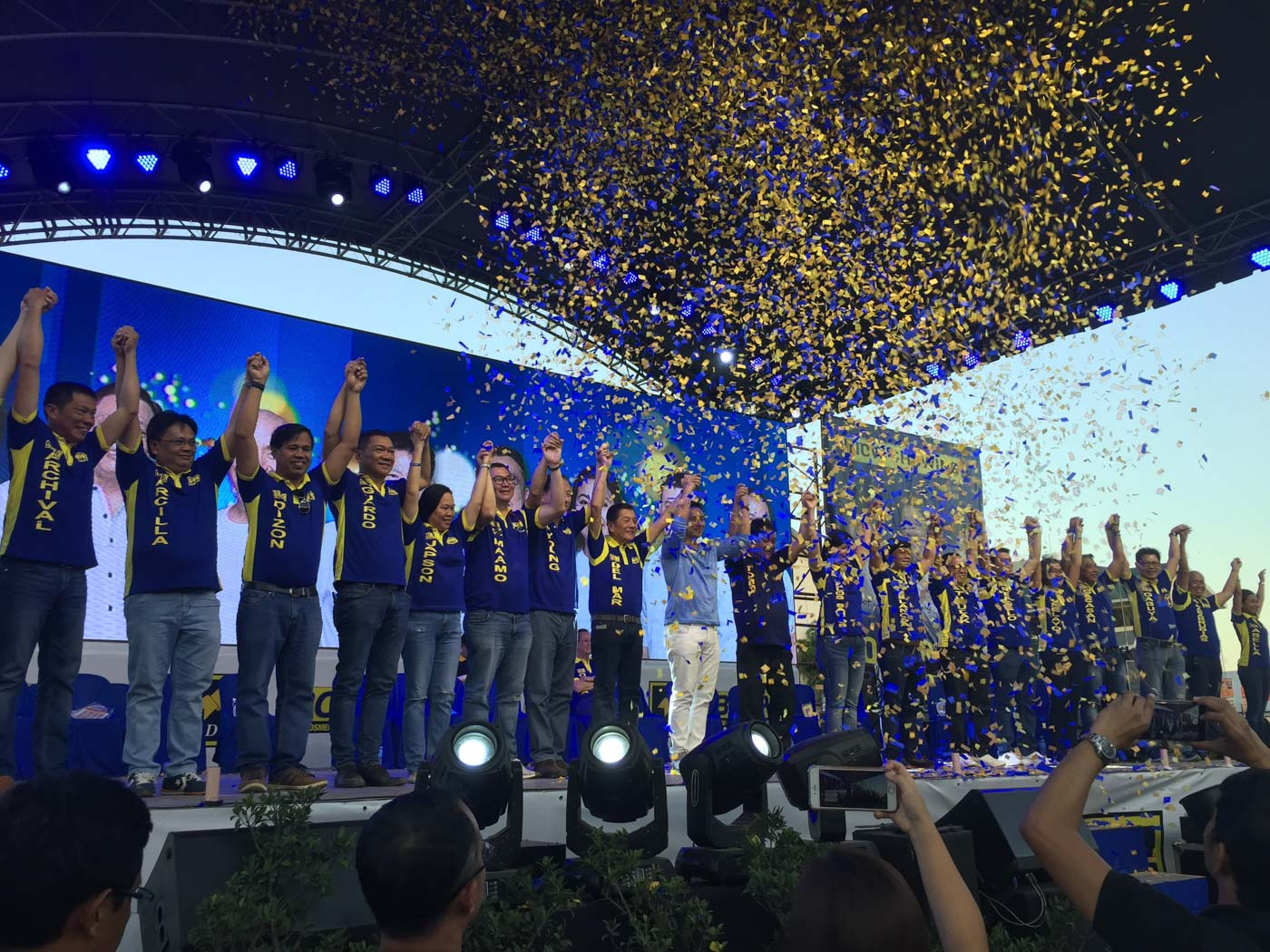 BOPK. Cebu City Mayor Tommy Osmeu00f1a and the rest of Bando Osmeu00f1a Pundok Kauswagan at their proclamation rally on March 30, 2019. Photo by Micole Gerard Tizon/Rappler