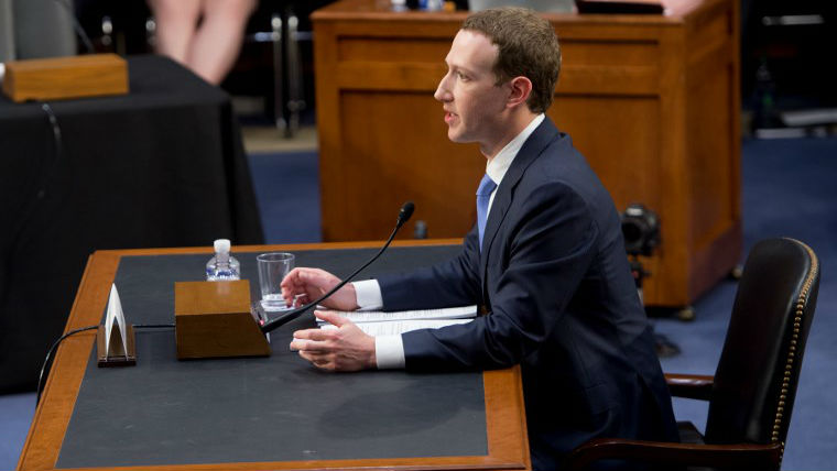 TESTIMONY. Facebook founder and CEO Mark Zuckerberg testifies during a Senate Commerce, Science and Transportation Committee and Senate Judiciary Committee joint hearing about Facebook on Capitol Hill in Washington, DC, April 10, 2018. Photo by Saul Loeb/AFP