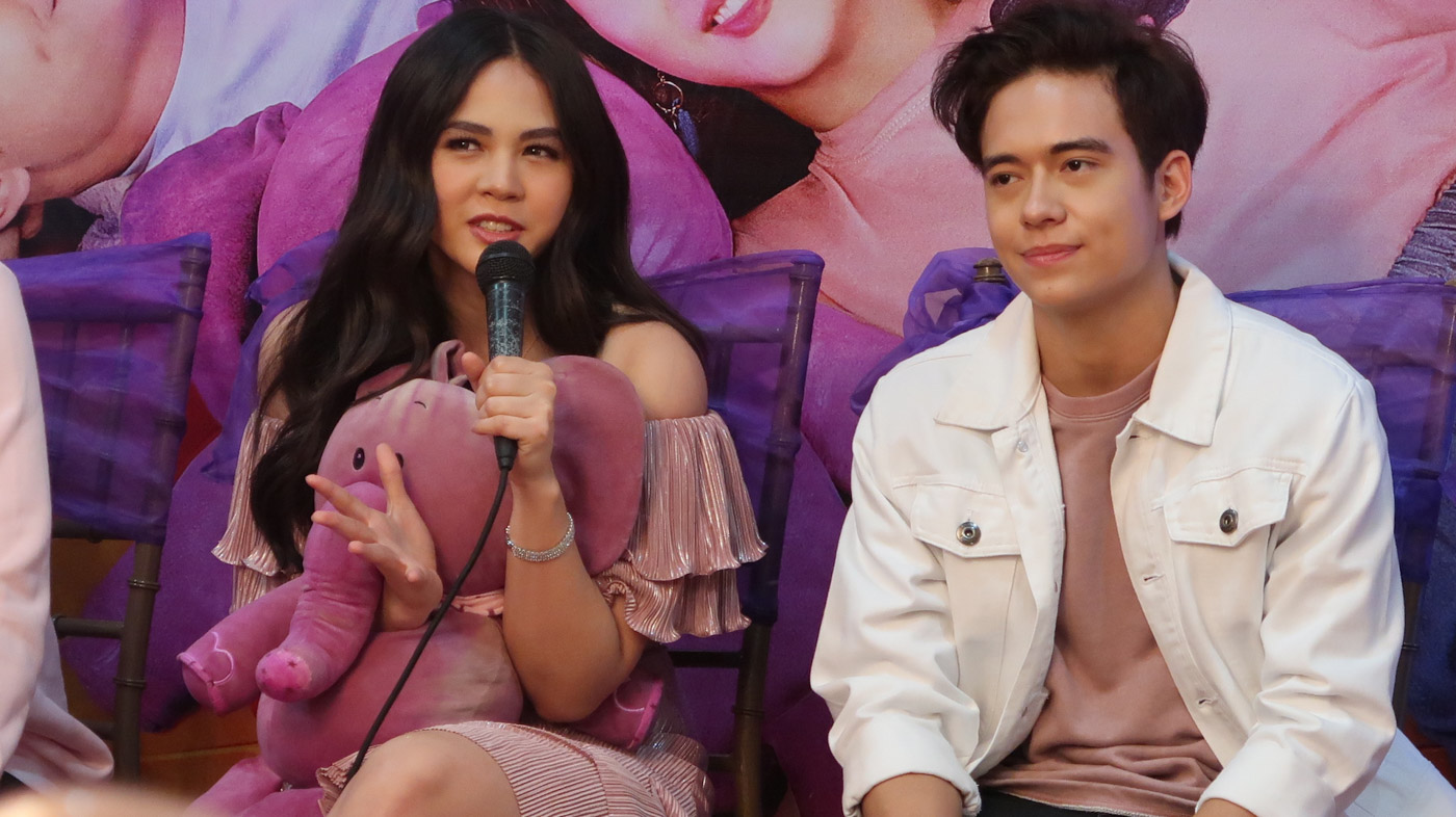 DIFFERENT PAIR UP. Janella Salvador says she initially felt weird to be working with another partner but eventually warmed up to it.