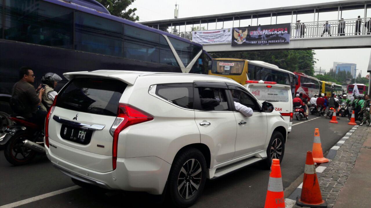 Rizieq menuju Istiqlal. Foto oleh Sakinah Haniy/Rappler