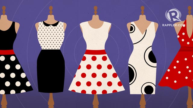 POLKA DOTS. Wearing the said print is said to bring in wealth and prosperity