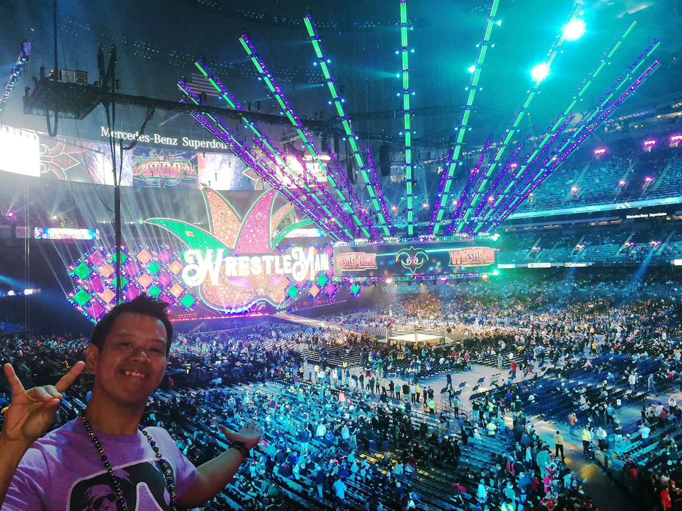 The writer inside the Superdome.