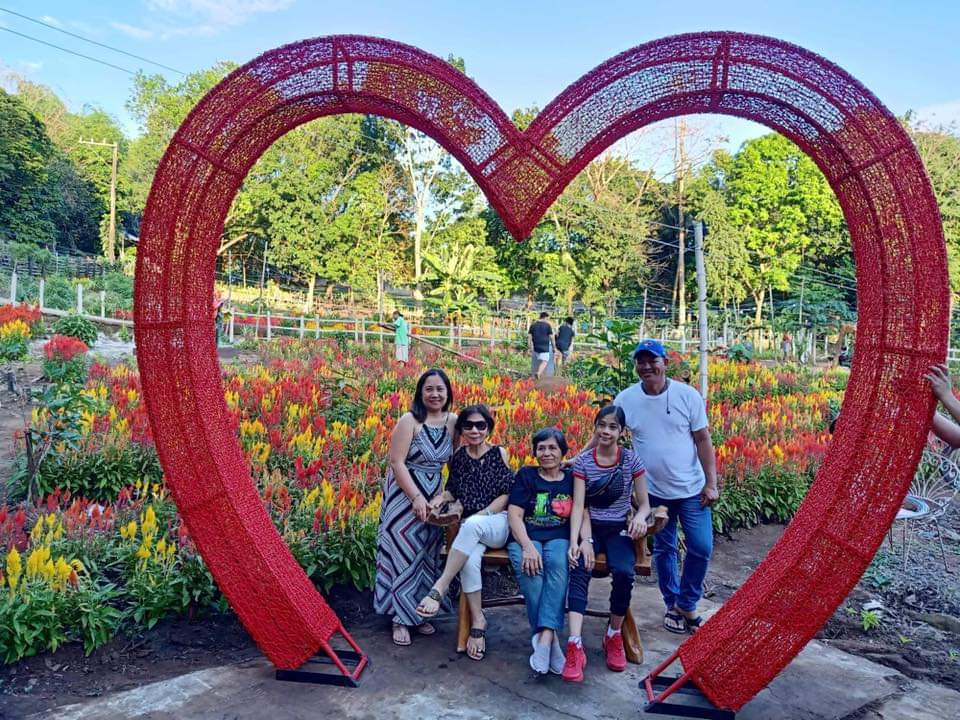 HEART. This heart frame is great for photos. Photo courtesy of Celossian Flower Farm