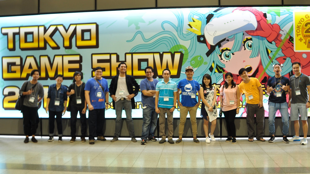 FROM PH TO TOKYO. This group of indie developers got to showcase their creations to the international market present at Tokyo Game Show 2016. Photo by Allen Tan of Monstronauts