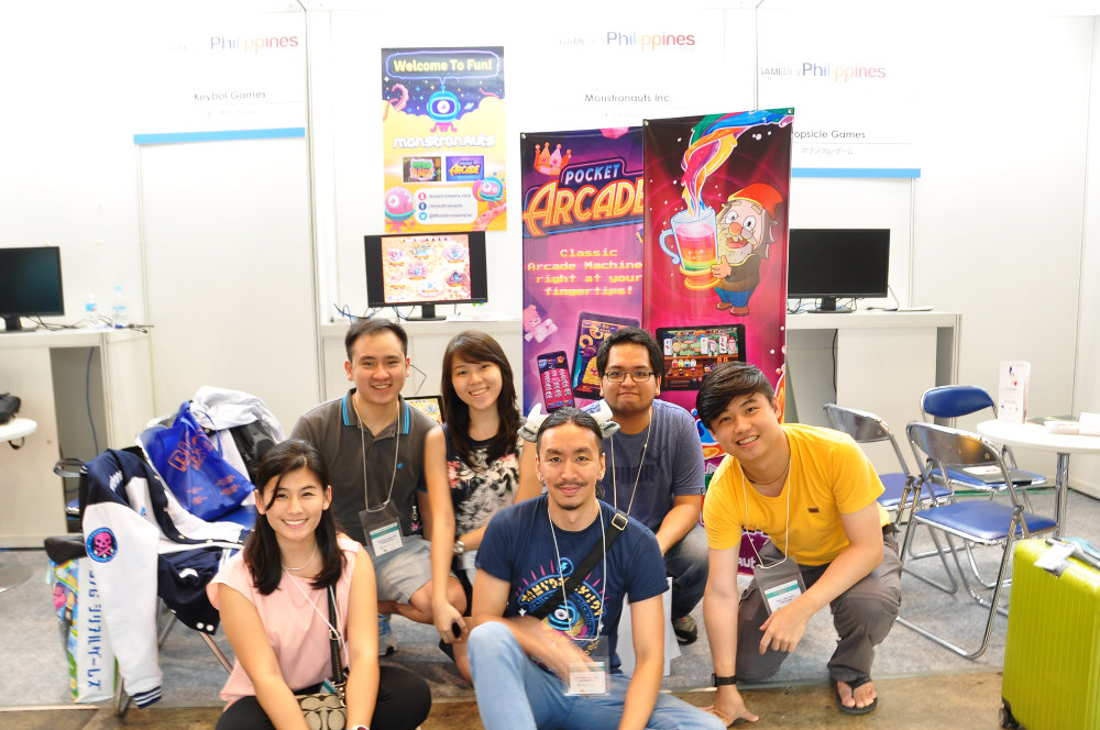 GROWING FAMILY. Among the PH delegates, Monstronauts has one of the bigger teams. Photo by Allen Tan of Monstronauts