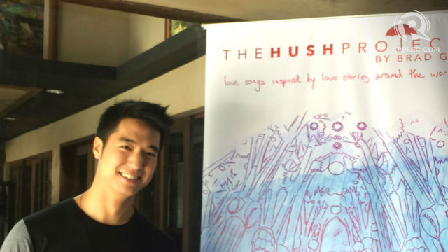 HUSH. The umbrella motif in his album is reminiscent to famous romantic Ted Mosby of 'How I Met Your Mother.' Photo by Tiffany Jillian Go/Rappler