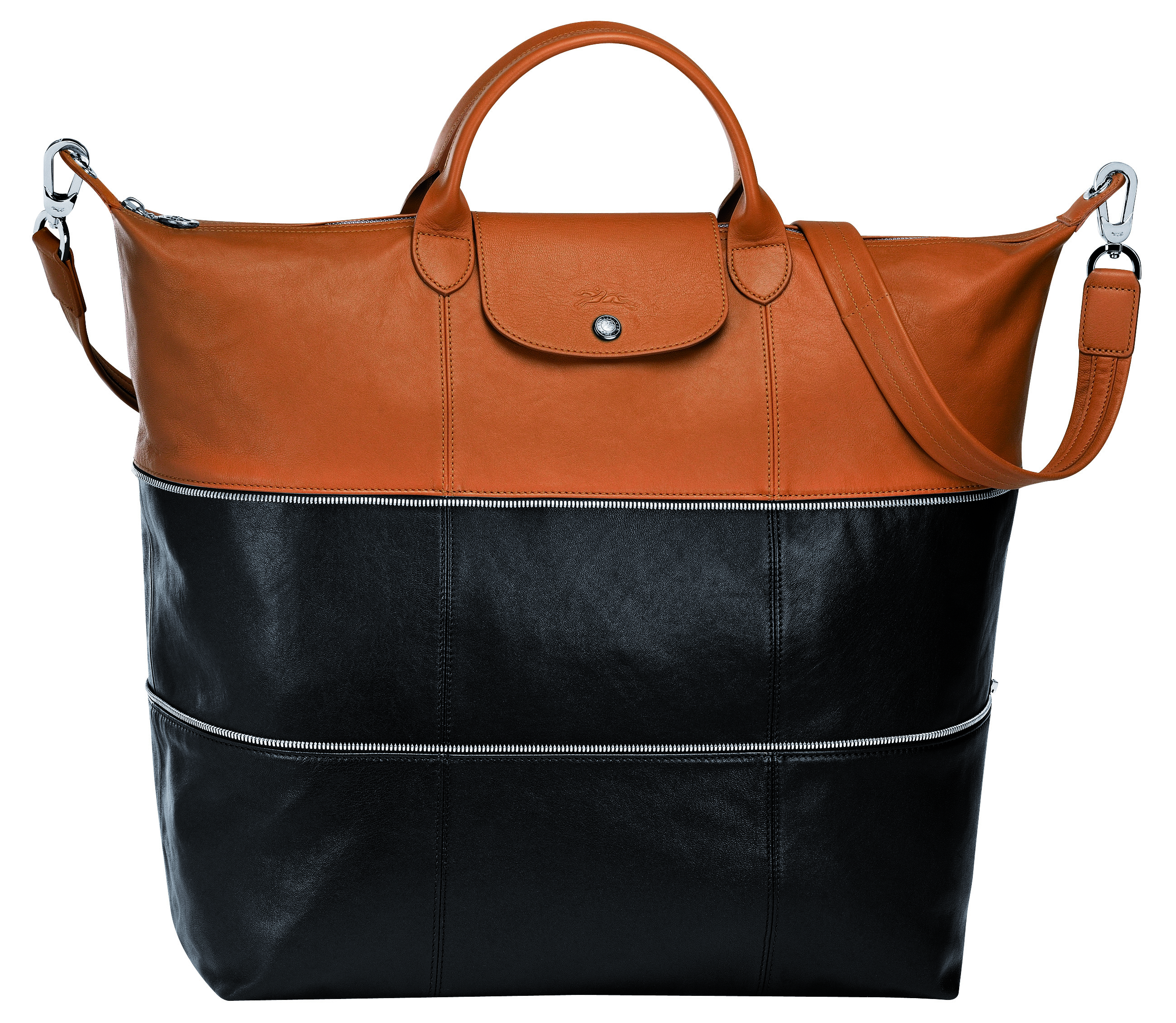 WEEKEND WANDERER. The Ruban expandable leather travel bag