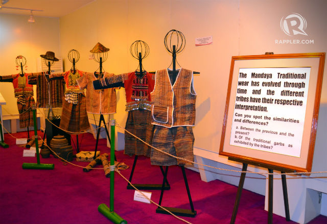 CULTURAL HERITAGE. This exhibit shows off Davao Oriental's cultural legacy. Photo by Henrylito D. Tacio/Rappler.com
