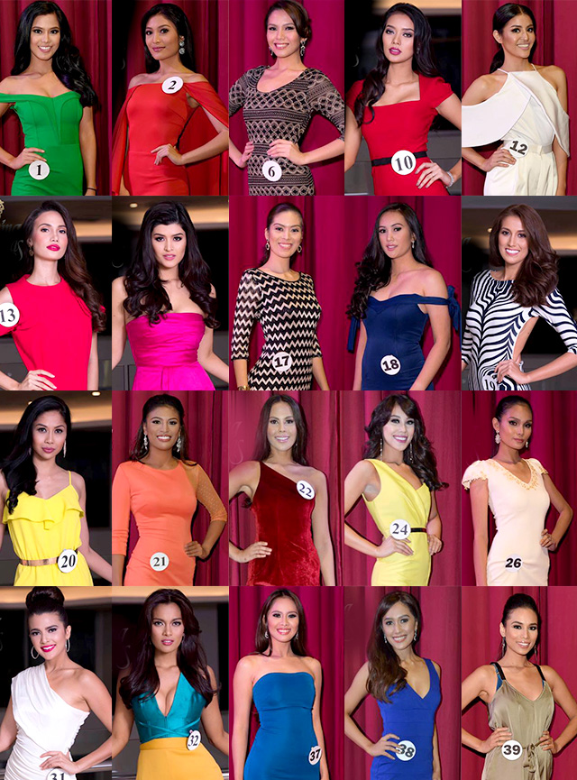 TOP 20. Above are my Top 20 Binibinis of Bb Pilipinas 2017 before I let go of Dane Felisse, Maria Benjieleen, Ruffa and Sammie Anne to trim down the choices to a manageable field of 16. Photos from Facebook/Bb Pilipinas