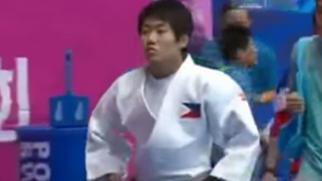 Filipina-Japanese judoka Kiyomi Watanabe has earned gold for the Philippines. Screenshot from TV5