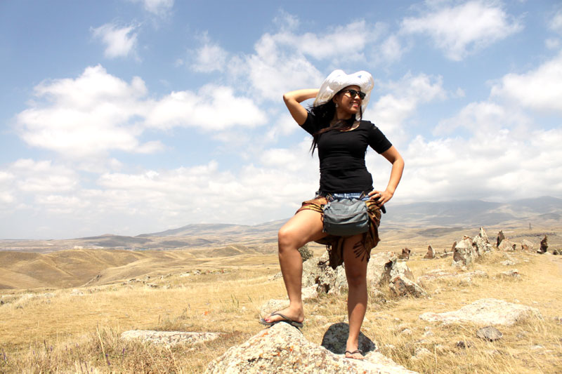 THIS IS THE LIFE. The writer in Karahunj-Sisian, Armenia. All photos courtesy of Kach Medina