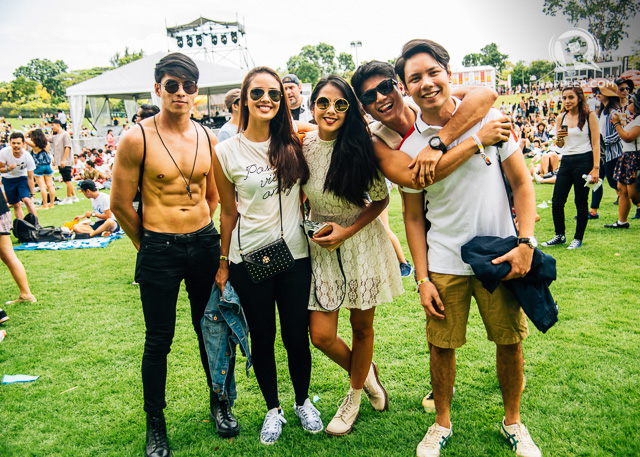 SQUAD. Saab's sister, Maxene Magalona, and friends, Rob Mananquil, Megan Young, and Mikael Daez were at Laneway Singapore to show support for Cheats and enjoy the festivities.