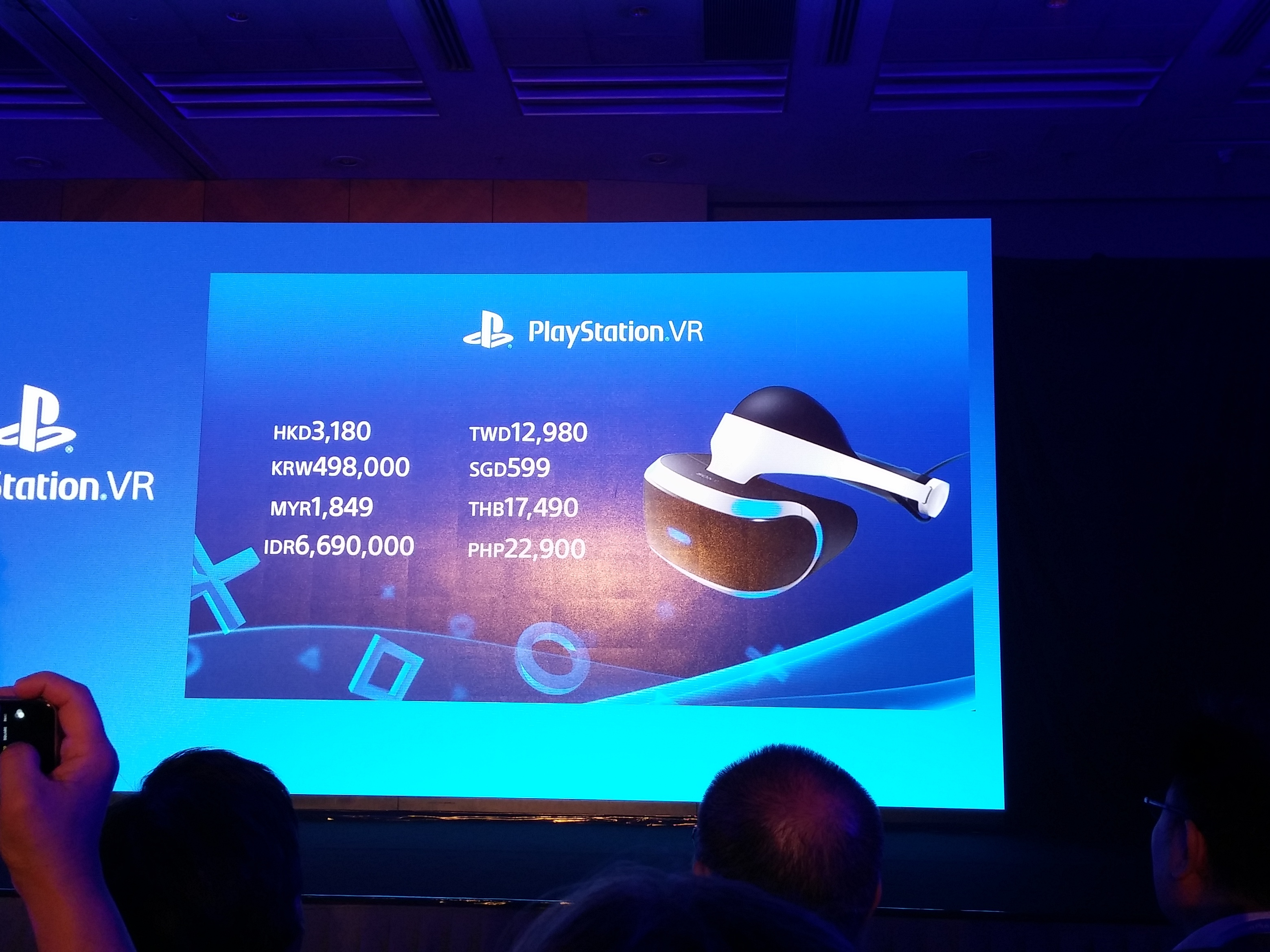 Pricing for the PlayStation VR unit