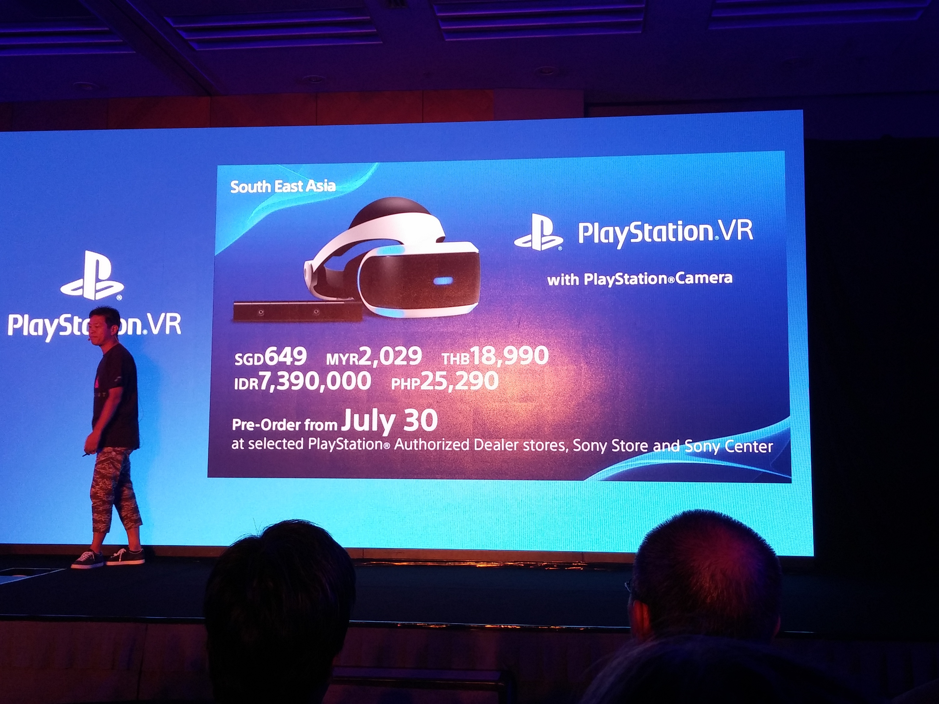 Pricing for the PlayStation VR with PlayStation Camera