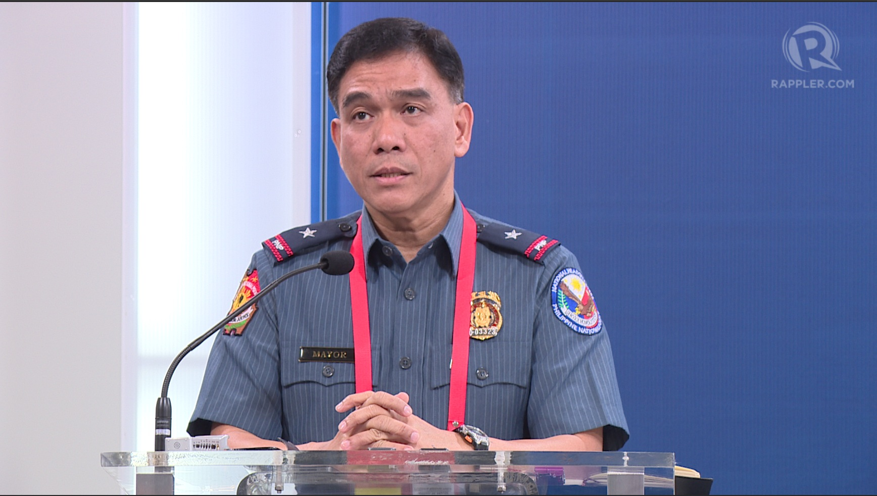 FOR EMERGENCIES ONLY. PNP spokesman Chief Superintendent Wilben Mayor says signal loss to be considered only if u0022really, really necessary.u0022 Rappler screenshot
