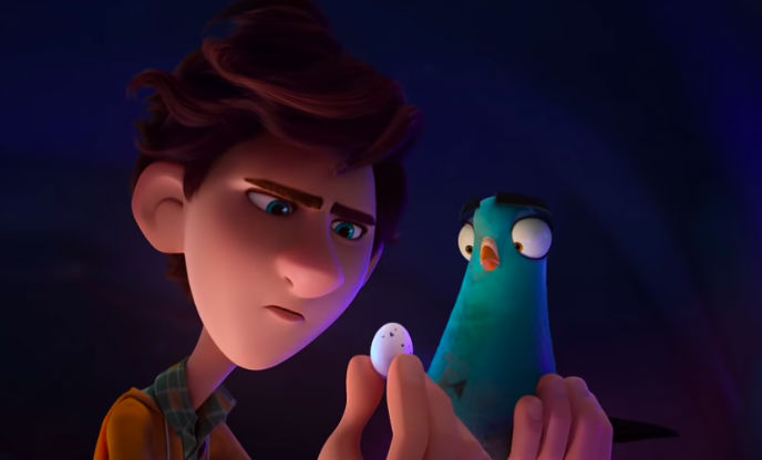 SCENARIO. Lance, who is turned into a bird is surprised by an on Walter's hand.