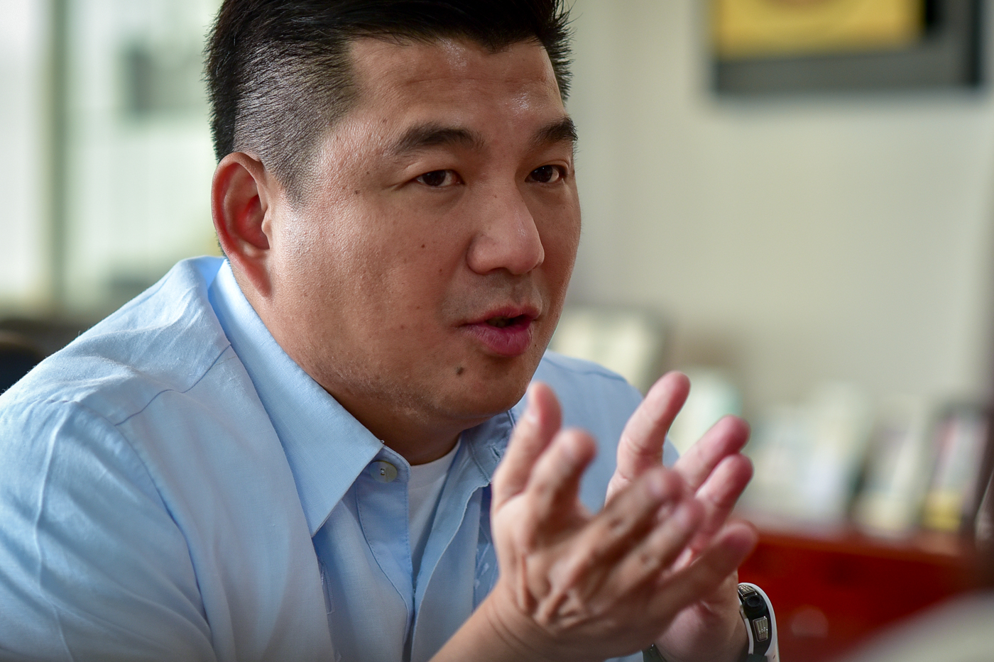 THANKFUL. When Dennis Uy was being denied loans by big banks, it was Equitable PCI Bank that trusted the Davao-based entrepreneur. Photo by LeAnne Jazul/Rappler