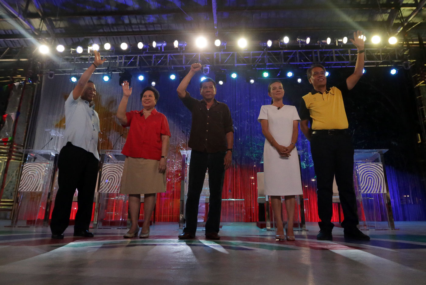 LAST DEBATE. Presidential candidates face off anew in the final leg of the Pilipinas Debates 2016 at the PHINMA University of Pangasinan in Dagupan City on April 24, 2016. Photo by Manila Bulletin