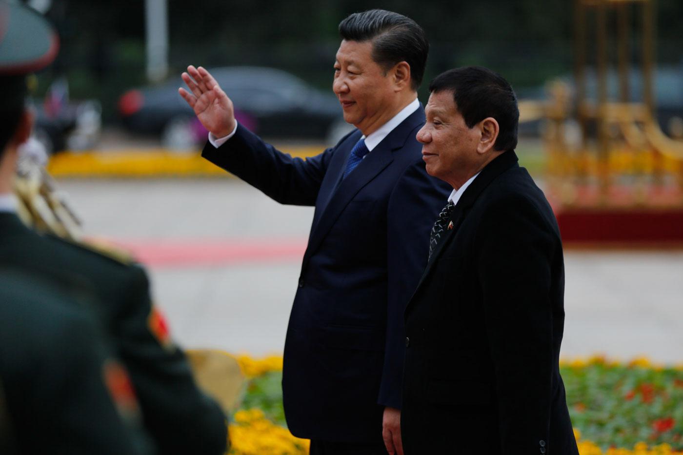 PIVOT TO CHINA. President Rodrigo Duterte has warmed ties with China, setting aside the countryu2019s victory against Beijingu2019s 9-dash-line claim in the South China Sea. Malacau00f1ang file photo