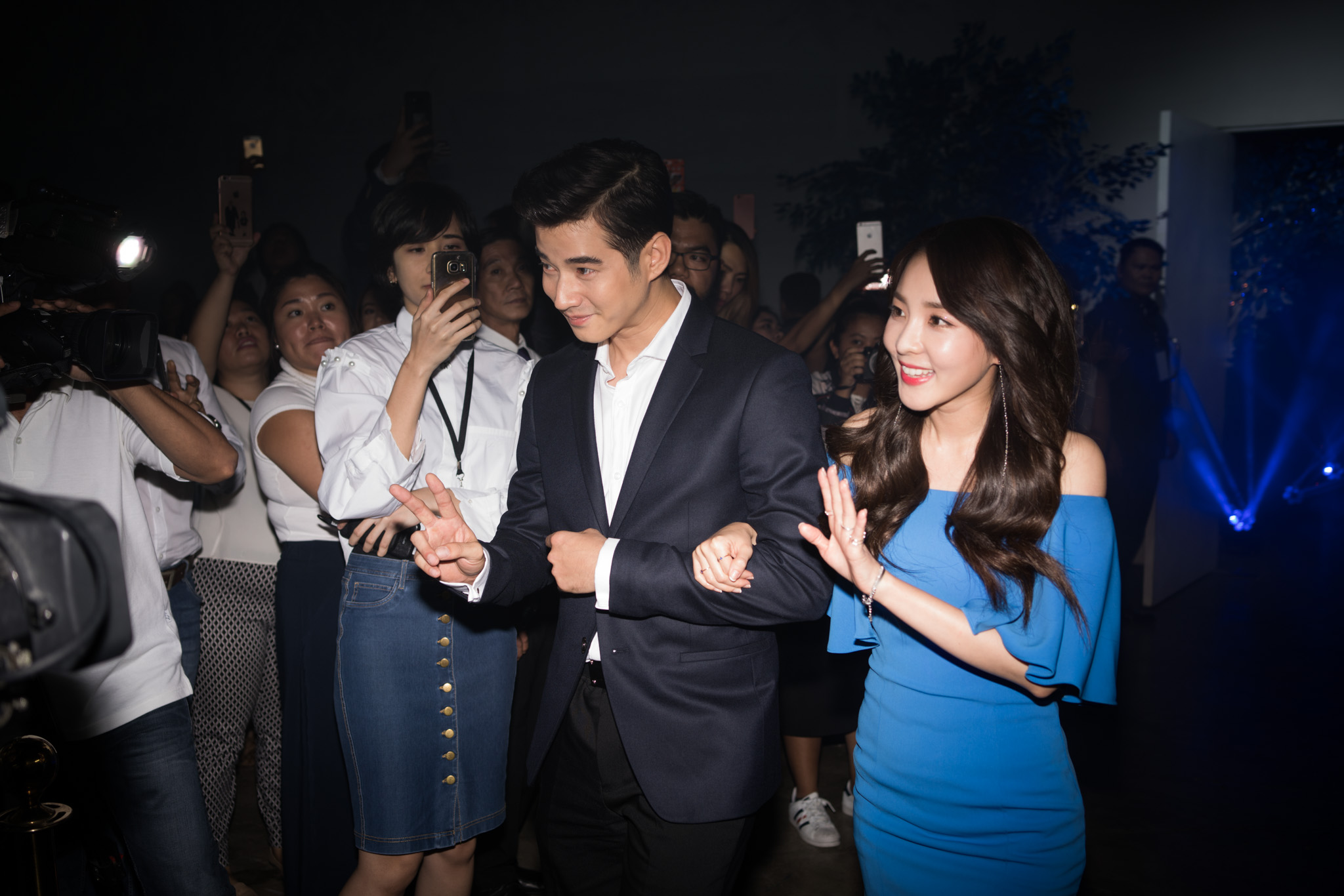 Mario and Sandara walk the red carpet at the launch. The two said they are open to doing more projects in the Philippines like TV shows and movies.