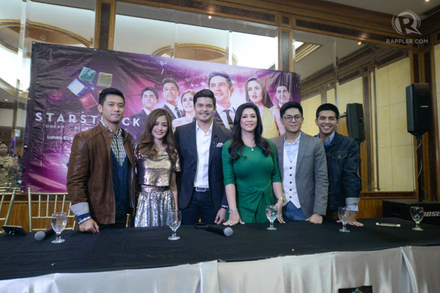 NEW HOSTS. Dingdong with Rocco Nacino, Kris Bernal, Regine Velasquez, Miguel Tanfelix, and Mark Herras at the press conference of 'Starstruck' season 6. Photo by Alecs Ongcal/Rappler