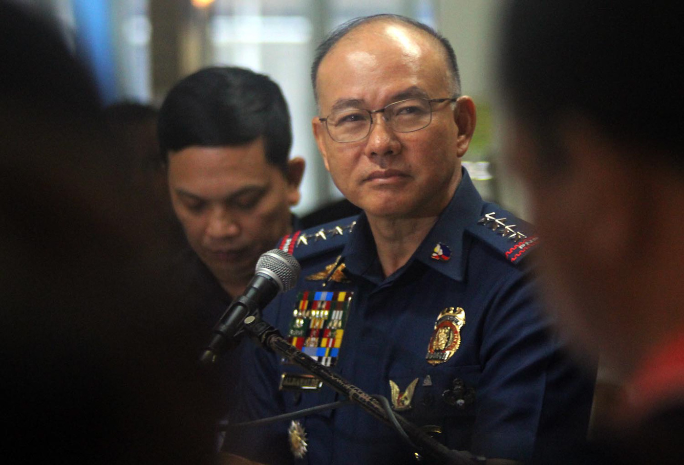 NEW ORDER. PNP chief Director General Oscar Albayalde vows to be strict in his leadership. File photo by Darren Langit/Rappler