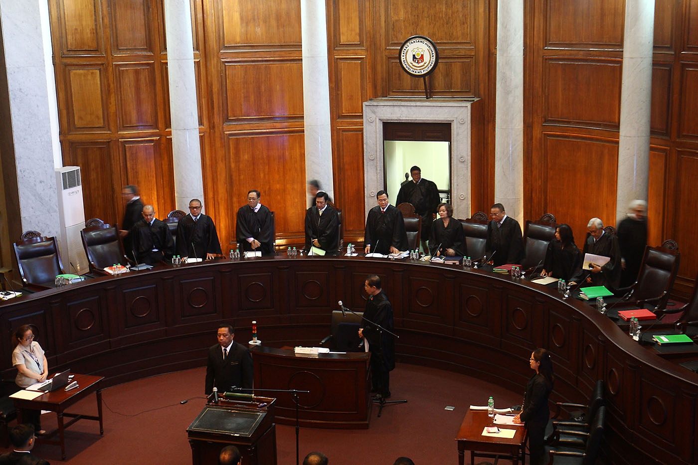 SAME-SEX MARRIAGE. Justices of the Supreme Court led by acting Chief Justice Antonio Carpio hold oral arguments on same sex marriage on June 18, 2018. File photo by Ben Nabong/Rappler