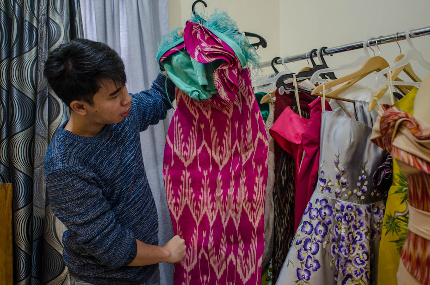 TNALAK. Jearson shos the pink tnalak dress Catriona wore during one of the event for the Miss Universe competition.