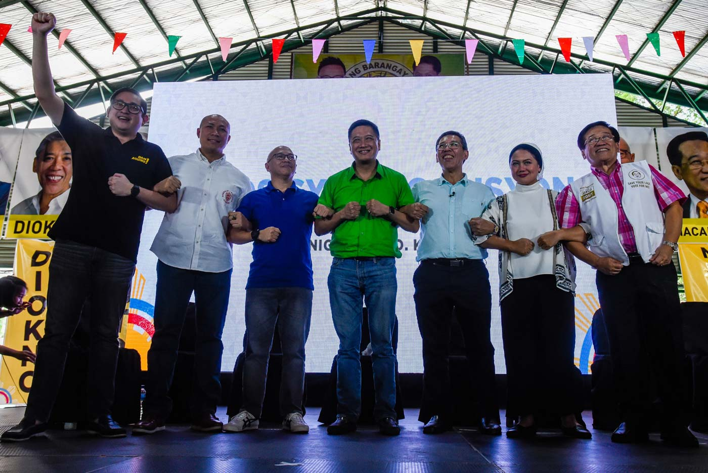SEASON OF RALLIES. The opposition coalitionu2019s presentation of its senatorial bets on October 24, 2018, is just the start of countless events that all political camps are expected to mount in the lead-up to the campaign period next year. Photo by Maria Tan/Rappler