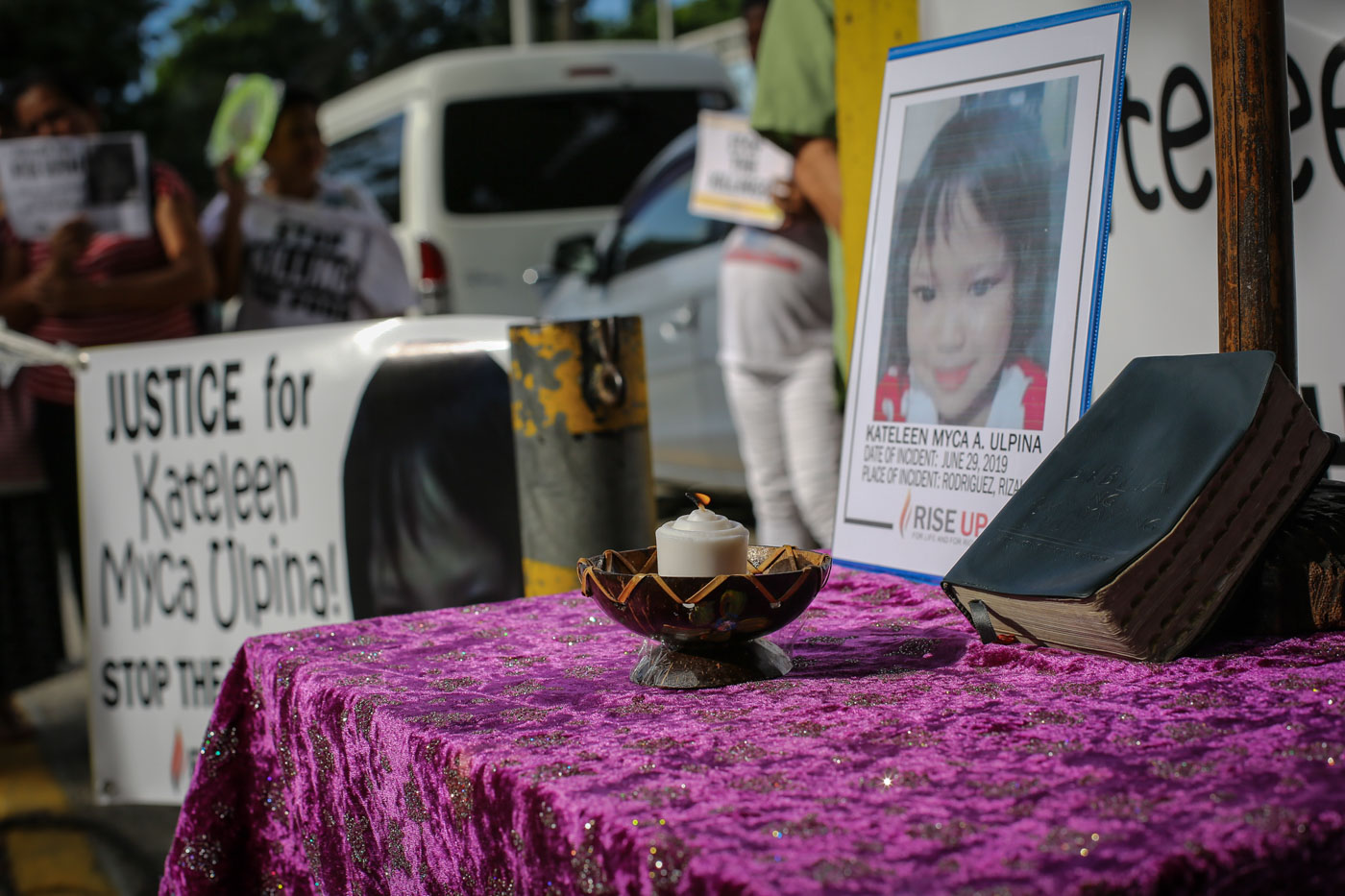 DEFENSELESS. Myca Ulpina's mother claims she was killed defenseless. Photo by Jire Carreon/Rappler