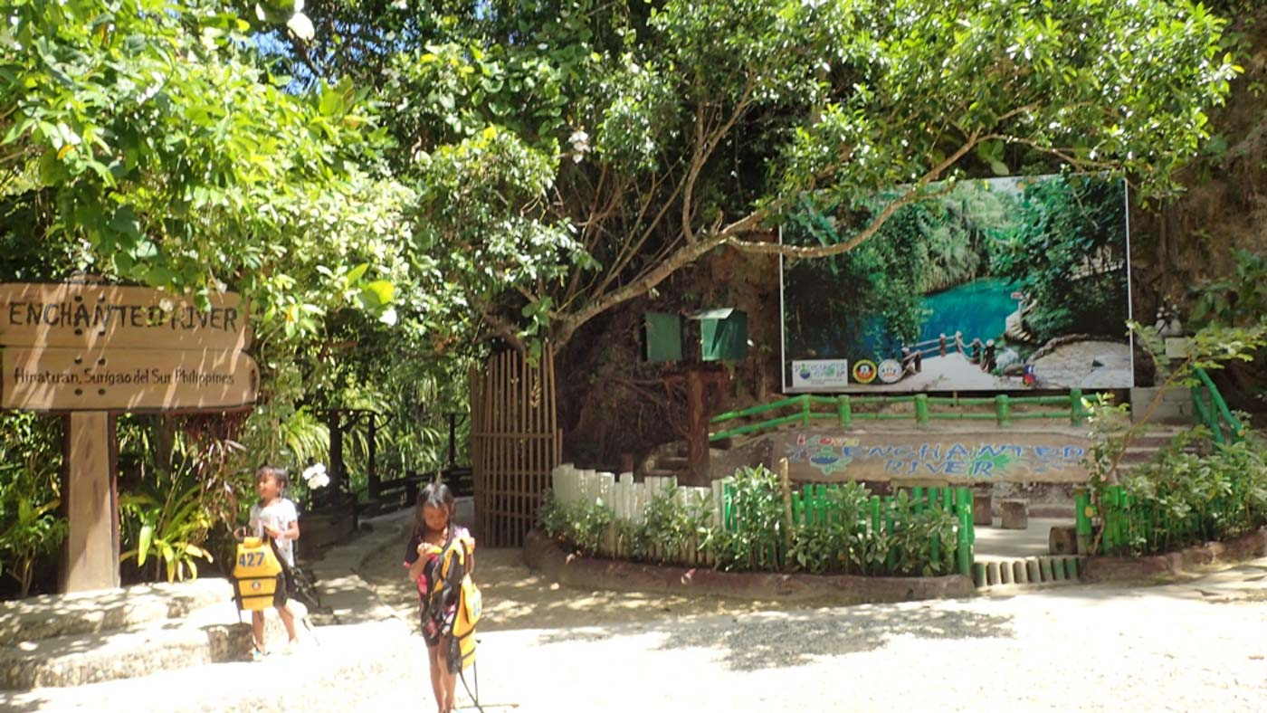 SPACIOUS. The space at the entrance to the Enchanted River is wider now that there are no more food stalls and other facilities. Photo by Claire Madarang/Rappler