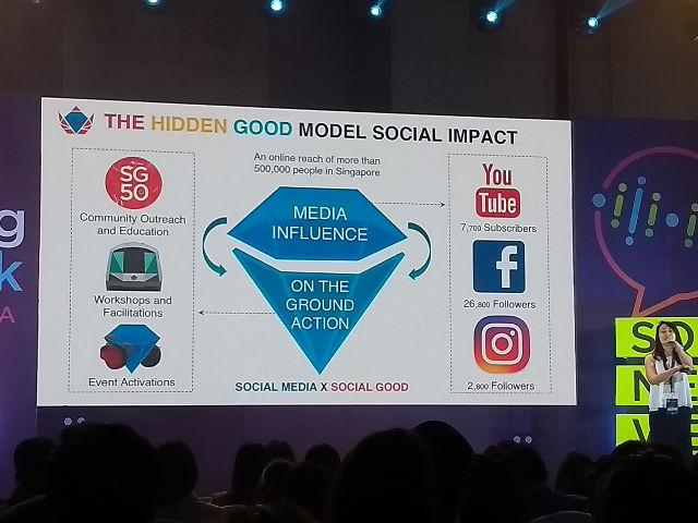 SOCIAL IMPACT. Jiezhen Wu explains The Hidden Good's model for creating social impact. Photo by Victor Barreiro Jr/Rappler