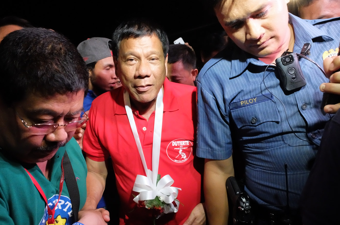 'BAD REMARK.' Davao City Mayor Rodrigo Duterte says he will not apologize for his controversial joke about rape. File photo by Alecs Ongcal/Rappler