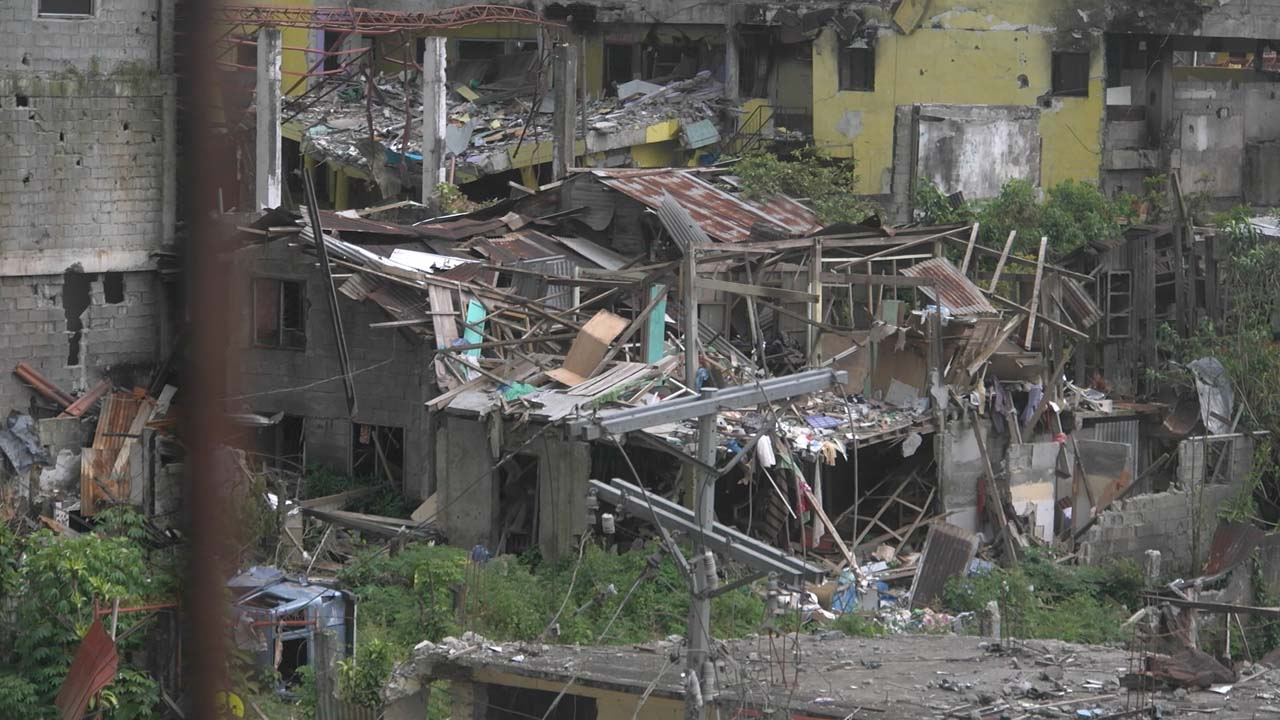 DESTRUCTION. The Marawi conflict leaves many homes destroyed