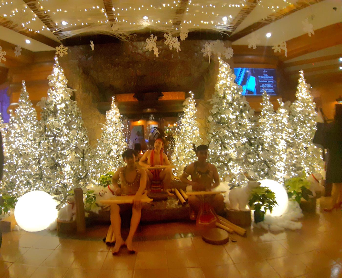 MANOR TREES. The Camp John Hay Manor Hotel starts the Yuletide season with their Christmas Tree lighting on November 9. Photo by Mau Victa/Rappler