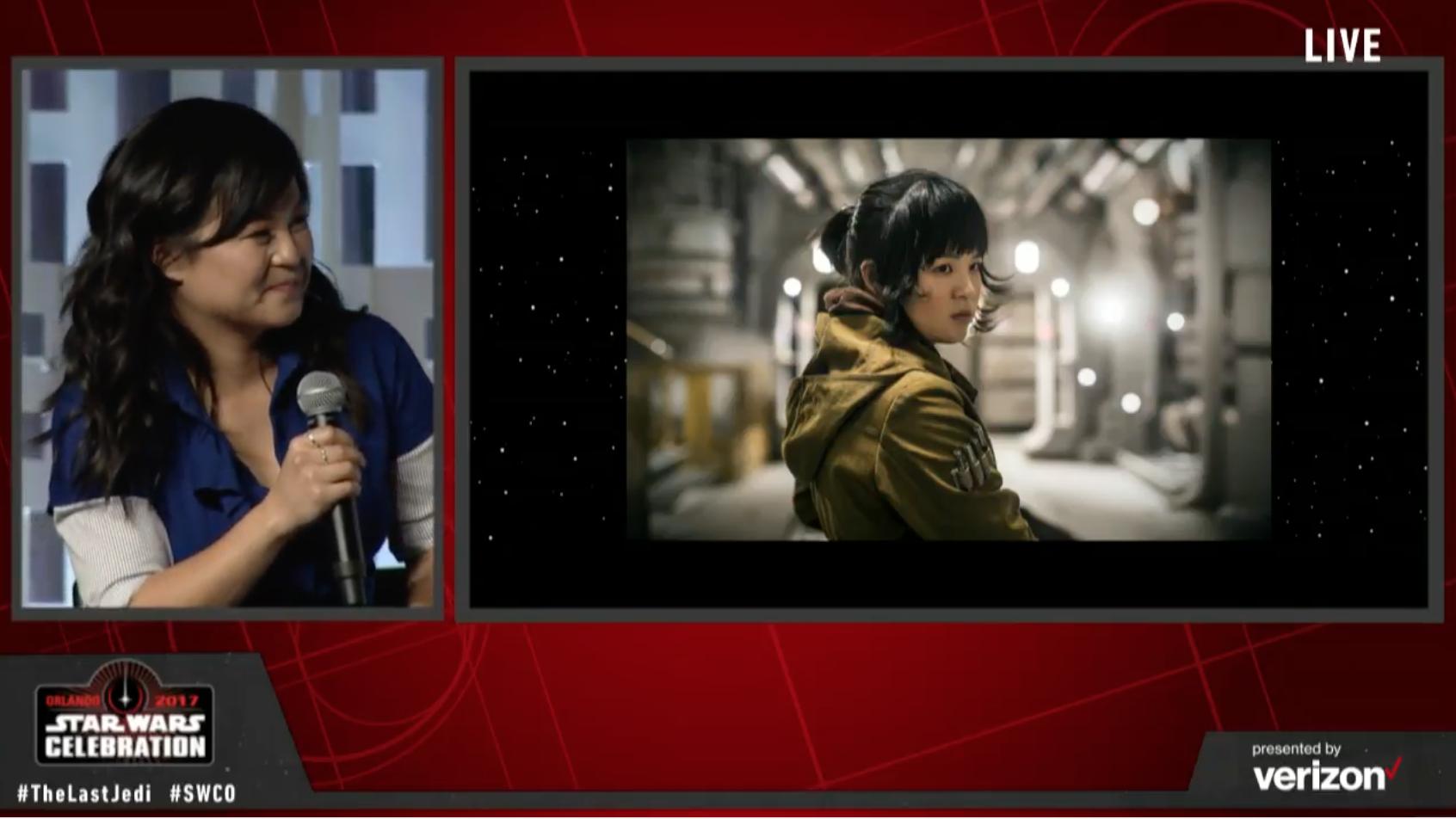 ROSE. Pendatang baru Kelly Marie Tran akan berperan sebagai Rose dalam 'The Last Jedi'. Screenshot dari Youtube/Star Wars