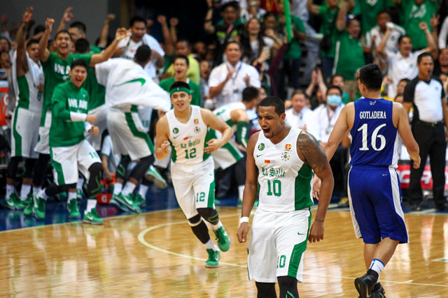 HELLO PERK. Jason Perkins' bounce-back game was key in helping La Salle win.