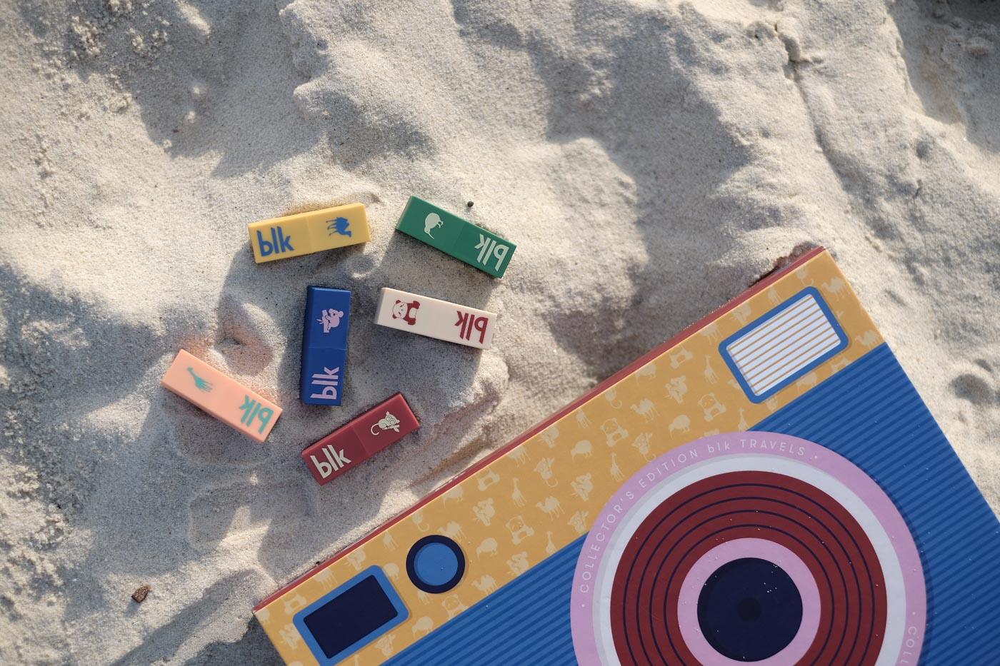 ANYWHERE. The 6 mini-lipsticks can be taken anywhere including Bondi Beach