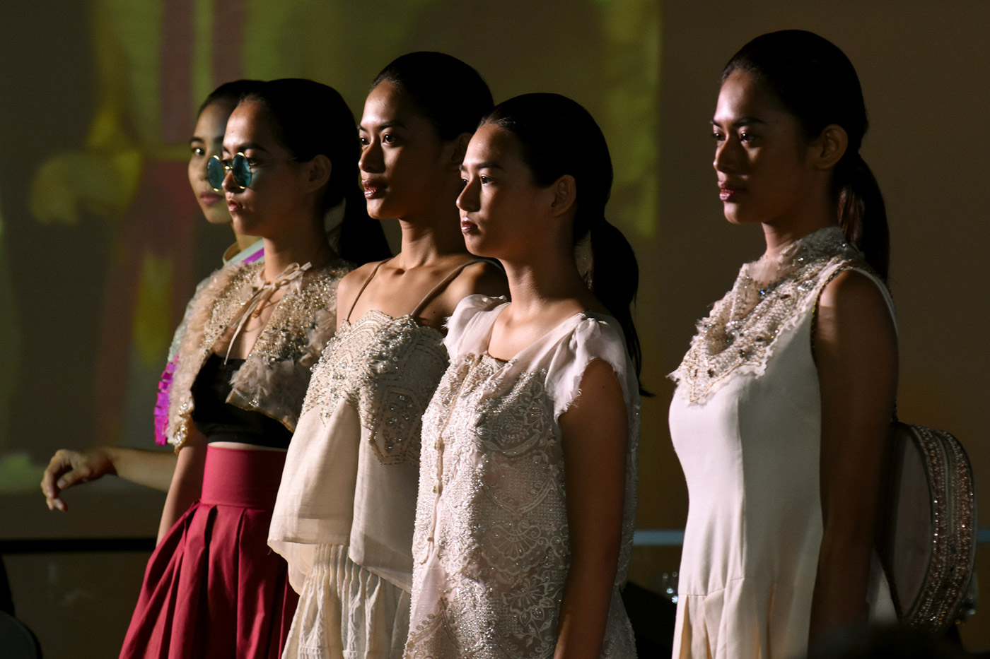 TRUE FILIPINO FASHION. Internationally-reknowned Filipino brand 'Aloysius Worldwide' strutted their designs which proudly incorporate local indeginous weaves. Photo by Angie de Silva/Rappler