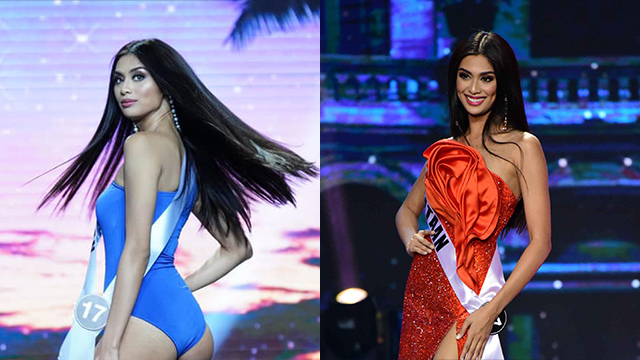 Swimsuit photo by Bb Pilipinas/Evening gown photo by Alecs Ongcal/Rappler