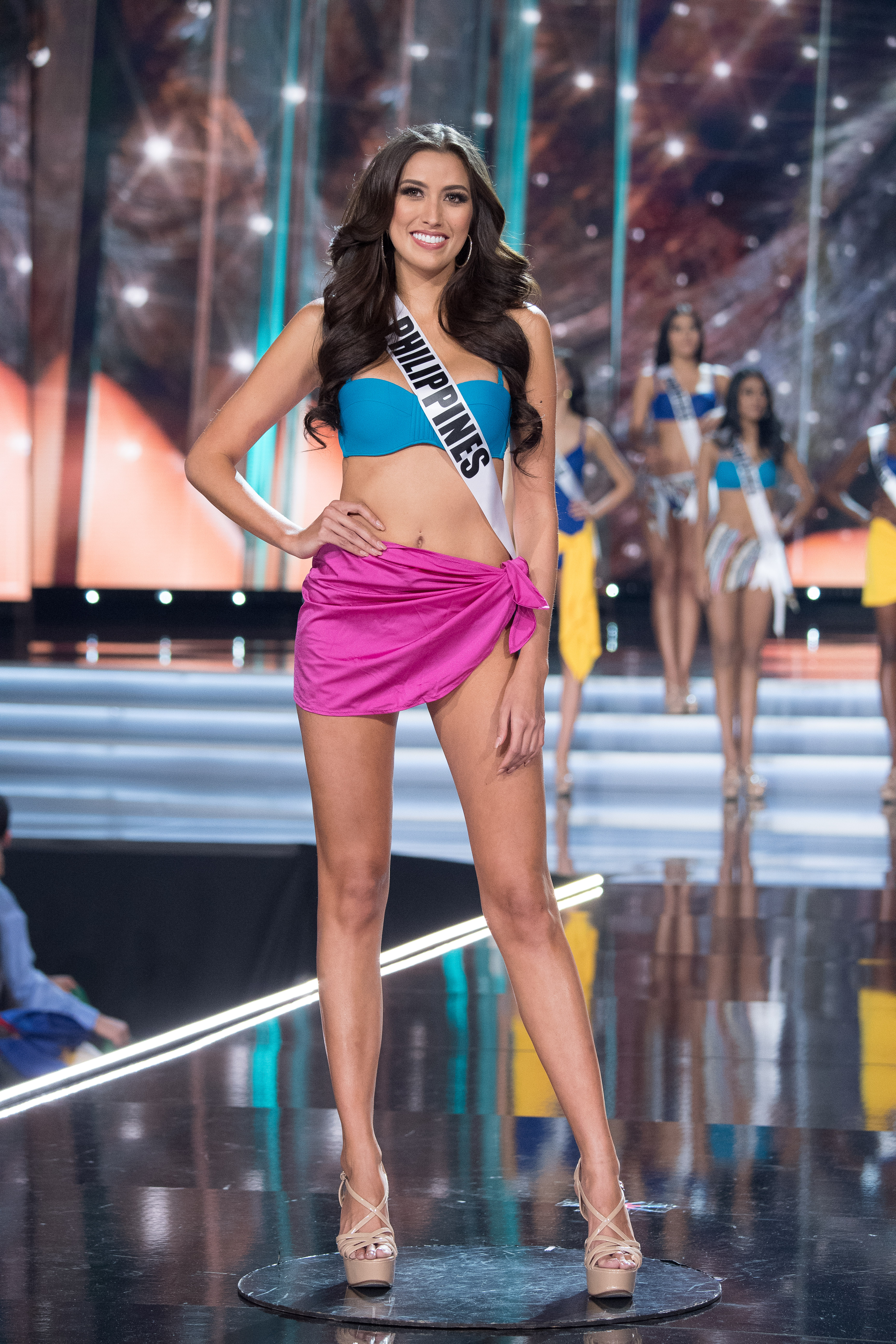 Rachel Peters during the swimsuit round. Phot from Miss Universe Organization