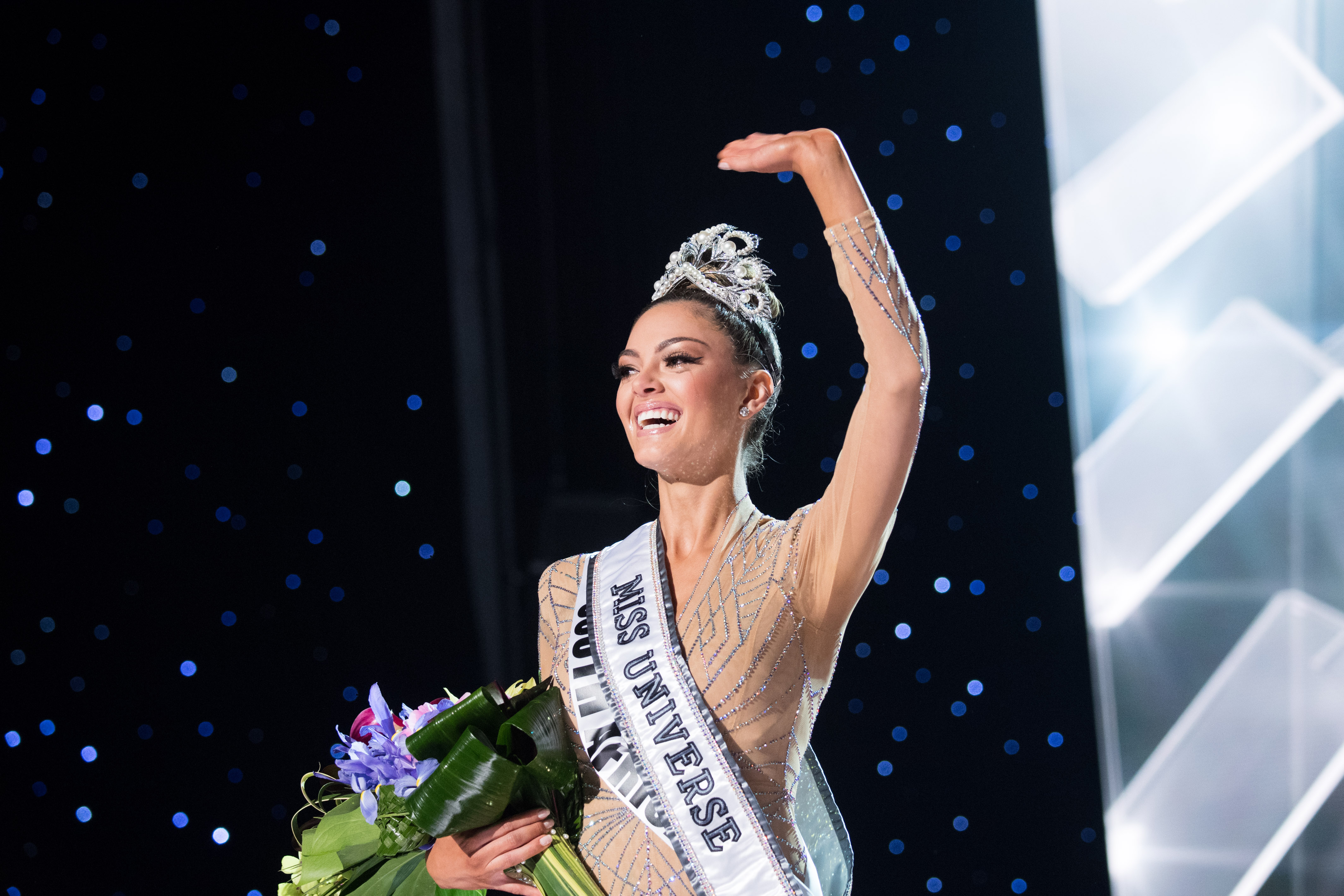 South Africa's Demi-Leigh Nel-Peters is crowned as Miss Universe 2017. Photo from the Miss Universe Organization