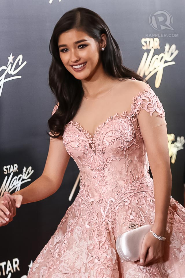 Liza Soberano in Michael Cinco in last year's Star Magic Ball. File photo by Manman Dejeto/Rappler