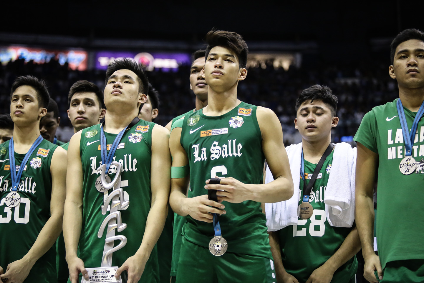 1ST RUNNER-UPS. The DLSU Green Archers settle for the runners-up honors this Season 80. Photo by Josh Albelda/Rappler
