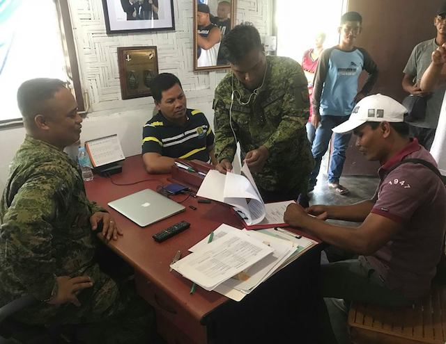 SIGNED. Local barangay chiefs in Central Mindanao vow to keep the peace in their areas.