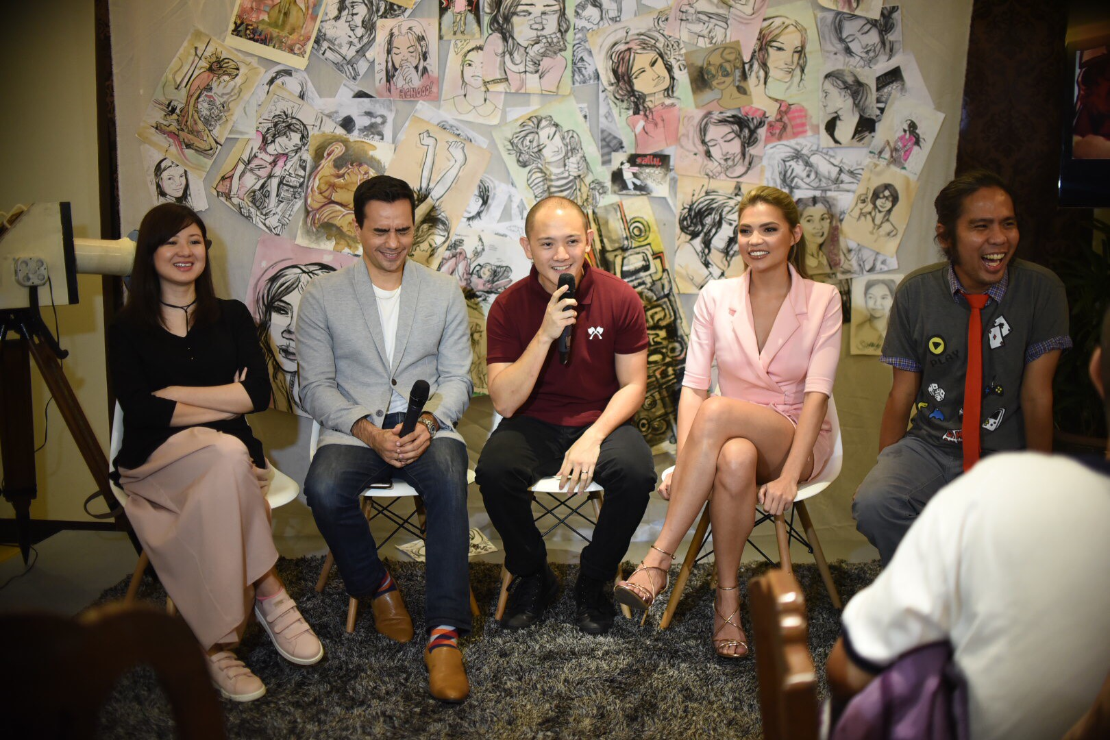 12 YEARS. From left: Writer Charlene Sawit-Esguerra, actors TJ Trinidad, Enzo Marcos, Rhian Ramos, and director Avid Liongoren reunite at the 'Saving Sally' press conference. Photo by Martin San Diego/Rappler
