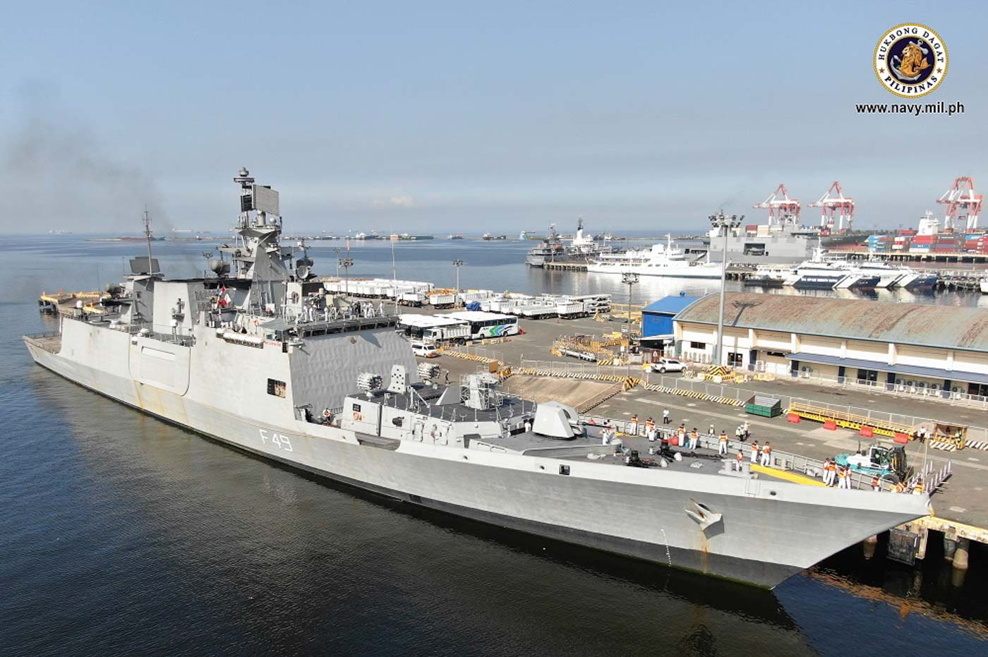 INDIAN FRIGATE. The Shivalik-class guided missile frigate INS Sahyadri is one of India's more advanced warships. Here it is docked at the Port of Manila on Wednesday, October 23, 2019. Photo from the Philippine Navy