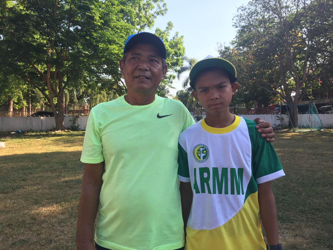 FATHER FIGURE. Haiver believes Ignohassan can go far in tennis. Photo by Mara Cepeda/Rappler